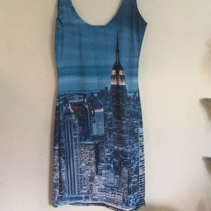 Blackmilk Manhattan skyline mini dress